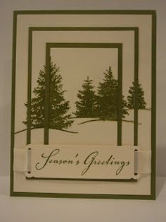 Card Corner by Candee: One Stamp Triple Stamping/Christmas featuring Scenic Season