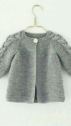 Ideas Crochet Cardigan Pattern Girls Baby Sweaters For 2019 Baby Sweater Knitting Pattern, Knitted Baby Cardigan, Knit Baby Sweaters, Crochet Jacket, Cardigan Pattern, Baby Knitting Patterns, Baby Patterns, Pattern Dress, Sweater Coats