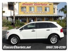Check out this 2013 Ford Edge SE in White from Classic Chariots Used Dodge, Used Nissan  in Vista, California 92083. It has an automatic transmission. Engine is 3.5L V6. Call Kay Gstrein at 888-804-0603 today!