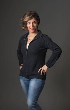 This popular simple plain charcoal grey women's possum merino jacket has a front zip. It is easy wearing for the weekend or smart casual for during the day at work. Dress this jacket up with jewellery. Made in New Zealand.