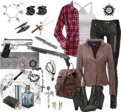 """Supernatural Hunter Girl"" by maiisadeankaulitz on Polyvore"