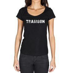 trahison, French Dictionary, Women's Short Sleeve Rounded Neck T-shirt