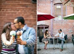 Sweet Ice Cream Parlor Engagement Session in California   Images by Ashley Tingley Photography   Via Modernly Wed