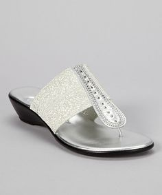 Take a look at this Silver Mocha Sandals by Dezario on #zulily today!