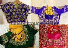 More Blouses in Thread Work | Saree Blouse Patterns