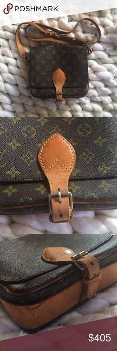 ec29abbc3290 Authentic Louis Vuitton Cartouchiere MM The perfect everyday crossbody!  Vintage LV Cartouchiere MM in monogram