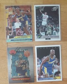 #Rookies Latrell Sprewell 4 Rookie Basketball Card Lot - FINEST, ULTRA Free Shipping #GoldenStateWarriors