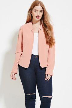 Plus Size Textured Blazer #forever21plus