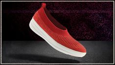 Fitness Schuhe - Uberknit Slip On Ballerinas, low top, rot. Ballerinas, Clogs, Fitflop, Vans Classic Slip On, Sneakers, Fitness, Top, Fashion, New Shoes