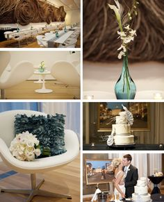 Teal accents at Raleigh, NC wedding