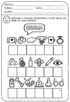 Atividades de Alfabetização para Educação Infantil - Ensino Já