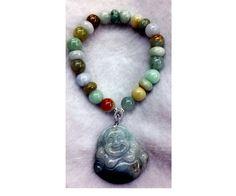 Business And Money Luck Bracelet  Jade with Buddha by Crejzshoppe, $68.00