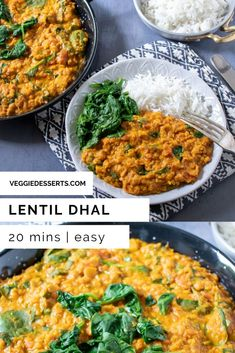 This delicious Red Lentil Dahl recipe is ready in just 25 minutes in Its one of my all time favourite dishes and hundreds of readers agree with 5 star ratings! It's vegan gluten-free and an incredible Indian curry recipe. Vegetarian Main Meals, Vegetarian Recipes Easy, Curry Recipes, Veggie Recipes, Red Lentil Dahl Recipe, Vegan Indian Recipes, Asian Recipes, Dhal Recipe, Slow Cooker Lentils