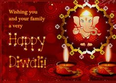 Wish everyone happy Diwali with this ecard. Free online Blessings Of Lord Ganesha ecards on Diwali Diwali Greetings, Diwali Wishes, Happy Diwali, Diwali Festival Of Lights, Lord Ganesha, Holidays And Events, Blessings, Birthday Candles, Ecards