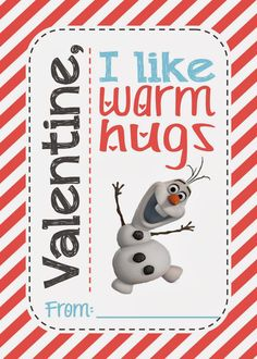 Two Magical Moms: FREE Olaf (Disney's Frozen) Printable Valentines