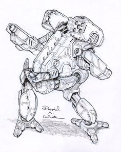 Vulture Mech Sketch by Mecha-Master.deviantart.com on @deviantART
