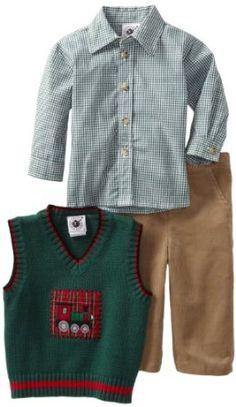 Good Lad Baby-Boys Infant Sweater Vest Set, Green, 24 Good Lad. $21.84