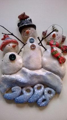 Snowmen (salt dough) by Gabriella Vantini