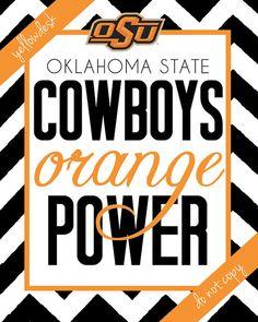 Oklahoma State Cowboys Spirit Poster by YellowDeskDesigns on Etsy