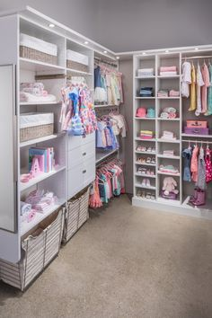 Girl's Walk-In Closets | Inspired Closets - Custom Closets Milwaukee | Inspired Closets Milwaukee Kids Bedroom Designs, Baby Room Design, Room Design Bedroom, Baby Room Decor, Walking Closet, Walk In Closet Design, Closet Designs, Baby Room Closet, Little Girl Closet