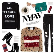 """pack for NYFW"" by jesuisunlapin ❤ liked on Polyvore featuring River Island, Wildfox, AINEA, Sigerson Morrison, Proenza Schouler and Gap"