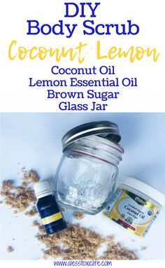 Learn how coconut oil can save you money and time with these 14 beauty hacks. Get my lemon and coconut oil beauty and cellulite scrub recipes. Coconut Oil Body Scrub, Best Coconut Oil, Coconut Oil Beauty, Essential Oils For Pain, Essential Oil Uses, Lemon Body Scrubs, Sugar Scrub For Face, Sugar Scrubs, Diy Body Scrub