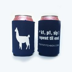 Koozie (Cozy) Drink Holder For Knitters. Makes an awesome gift for the knitter #knittinggifts #knitters