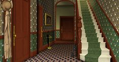 Hallway of the Victorian house