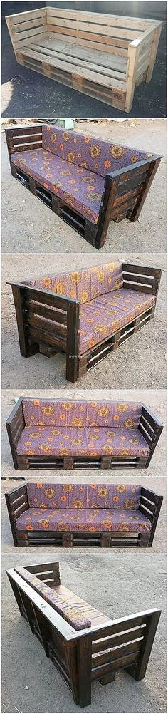 Best Ideas for diy furniture projects wood pallets crafts Pallet Bench Diy, Wood Pallet Crafts, Wood Pallet Recycling, Pallet Patio Furniture, Recycled Pallets, Diy Furniture Projects, Diy Pallet Projects, Wood Pallets, Cool Furniture