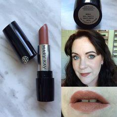Mary Kay Gel Semi-Matte Lipstick swatch in Rich Truffle