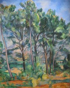 ARTE TELA Paul Cezanne paesaggio dipinto montato A1