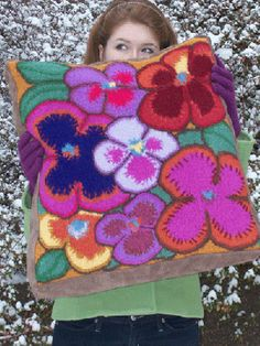 Knit Pattern ~ Wildflower Cushion
