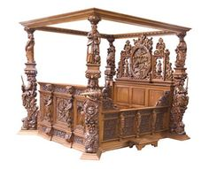 b690fff9ea3 The Ceremonial bed is shown here in Hardwood (e.g Mahogany) and in the dark