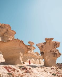 Discover one of Spain's most beautiful natural attractions, Ciudad Encantada de Bolnuevo in Mazarrón. An otherworldly landscape of spectacular sandstone formations! Backpacking Spain, Spain Culture, Places In Spain, Small Restaurants, Spain Holidays, Vacation Places, Vacations, Spain And Portugal, Spain Travel