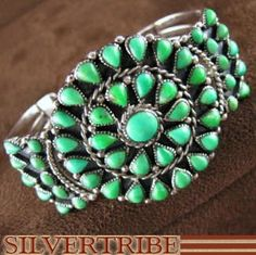 Mojave Turquoise And Genuine Sterling Silver Cuff