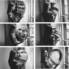 Another sequence of Duane Michals. The mirror, the reflection, distortion, light, black and white