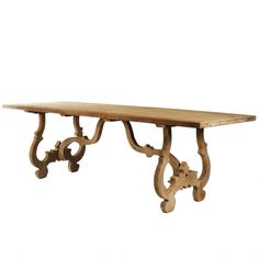 Carved French Country Dining Table