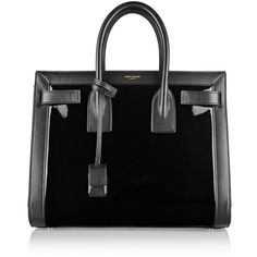 Saint Laurent Sac De Jour small paneled patent-leather tote and other apparel, accessories and trends. Browse and shop related looks.