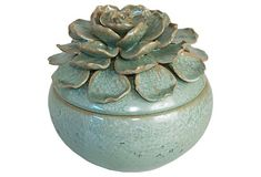 Clay Pottery Designs | Clay/pottery ideas / Floral Ceramic Box