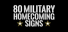 If you have a loved one who will soon return from deployment make sure to check out this collection of military homecoming signs and ideas for the big day!