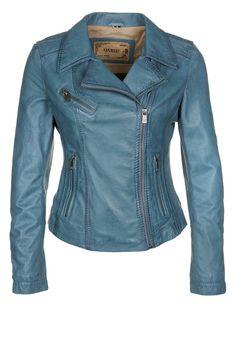 Oakwood - HORN - Leather jacket - blue
