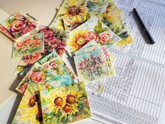 She Must Make Art: Garden Blooms Collection Releases Soon, Spring 2020.  Artist blog and original watercolor artwork.