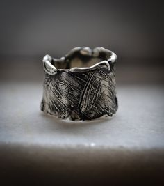 Sculpture wax ring-Lines design-Hand sculpted by AnnakramaJewelry