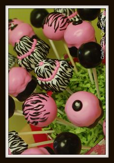 Zebra Bouquet Cake Pop Bouquet