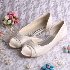 e04ca929d86d flat ballerina on sale at reasonable prices, buy Wedopus Flat Ballerina  Ladies Shoes Wedding Bridal shoes Lace Peep Toes from mobile site on  Aliexpress Now!