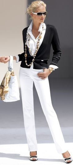 Black and white- YES please!! Working the trend but done so well xoxo #style #fashion