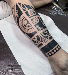 Search inspiration for a Tribal tattoo. Black Tattoos, New Tattoos, Cool Tattoos, Tribal Tattoo Designs, Tribal Tattoos, Tattoo Images, Tattoo Photos, Free Hand Tattoo, Marquesan Tattoos