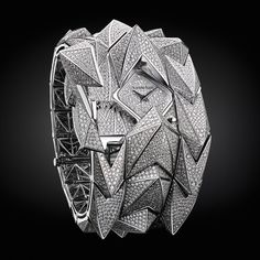 Packing a sparkling punch, the Diamond Fury cuff watch by Audemars Piguet is set with just under 5,000 diamonds ($637,800).
