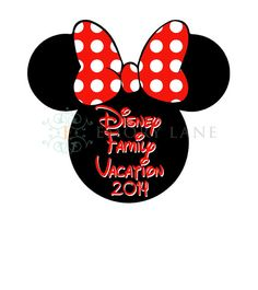 Minnie Mouse Printable Disney Family Vacation by EmoryLaneStudios, $3.75