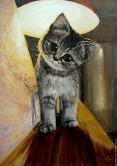 Oil painting Kitten